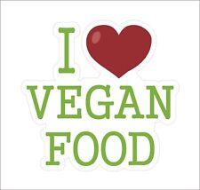 I Love Heart Vegan Food Vinyl Sticker Decal Funny Danger Motorcycle Car Decor