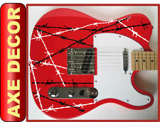 6 x BARBED WIRE DECAL STICKERS electric strings guitar