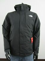 Mens TNF The North Face Lonepeak Tri 3 in 1 Hooded Waterproof Jacket Black White