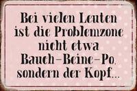 Problemzone Kopf Blechschild Schild gewölbt Metal Tin Sign 20 x 30 cm