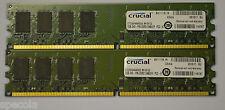 4GB DDR2 PC2-6400 2 x 2 GB Crucial CT25664AA800 RAM DDR2 800 MHZ DIMM 240-pin