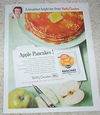 1958 ad page - Betty Crocker Pancake mix - apple pancakes vintage food ADVERT