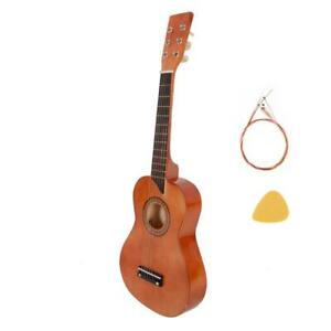 """New 25"""" Kids Children Guitar with Picks Strings Xmas Gift Coffee Color"""