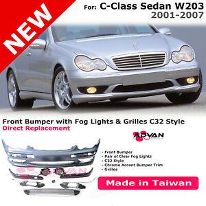 C32 Style Front Bumper For MB Benz C-Class 2001-2007 W203 Sedan C230 C280 C320