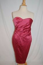Stunning KAY UNGER ROSE PINK strapless SWEETHEART BODICE FORMAL DRESS COCKTAIL 8