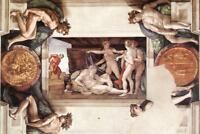 Michelangelo Drunkenness of Noah Fine Art Mural inch Poster 36x54 inch