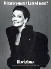 1987 Blackglama Legend Mink Fur Furs Audrey Hepburn coat MAGAZINE AD