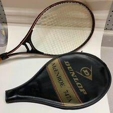 Vintage Dunlop JOHN McENROE 747A Tennis Racquet with Cover Leather Grip