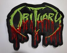 OBITUARY EMBROIDERED PATCH