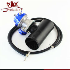"Turbo Charger BOV Blow Off Valve Type-S/RS + 3"" Alloy Flange Adapter Pipe Blue"