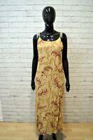 Vestito Donna IVANA BIANCALANI Taglia 44 Abito Tubino Dress Beige Woman Robe