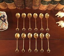 Custom Tom Ford Set of 12 Italian GUCCI Horsebit Demitasse Spoons
