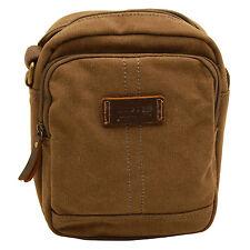 Tropa De Londres-Brown patrimonio messenger/across Cuerpo Bolsa en canvas-leather