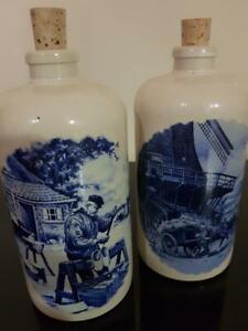 Rare Pair of M.K.M Max Kruger Stoneware Bottles