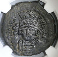 565 NGC VF Justin II Byzantine Follis Antioch Mint Pedigree (18121801C)