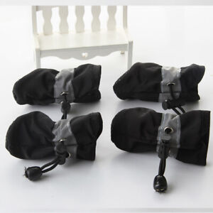 4Pcs/set Dog Boots Shoes Anti Slip Waterproof Puppy Small Pet Soft Rain Boots CA