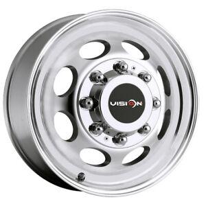 "Vision 181 Hauler Dually Front 19.5x6.75 8x6.5"" Machined Wheel Rim"