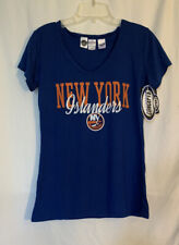Nhl New York Islanders Hockey Tee T-Shirt - Blue Womens Medium - New
