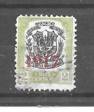 Dominican Republic Stamp- Scott # 215/A25-2c-Canc/H-1917-Overprinted-NG