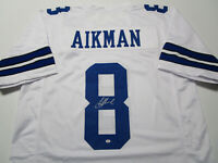 TROY AIKMAN / NFL HALL OF FAME / AUTOGRAPHED DALLAS COWBOYS CUSTOM JERSEY / COA