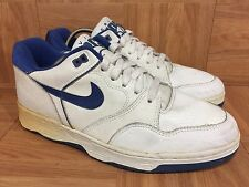 VTG�� Nike Air Driving Force Low White Royal Blue 1989 Classic Original Shoe 9.5