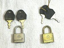 Samsonite, 2 kleine Kofferschlösser Reisetaschenschlösser  mit 4 Schlüssel