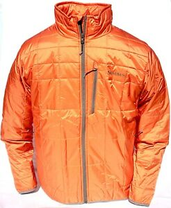 Simms Fall Run Men's Jacket Fishing Upland Hunting Orange Primaloft Insulated