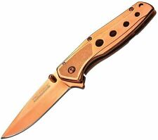 5 PC Tac Force Assisted Open Tactical Rose Gold Copper Mini Folding Pocket Knife