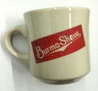 Vintage Burma Shave Mug - White & Red Ceramic Shaving Mug