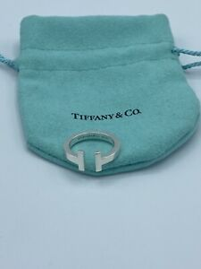 Tiffany & Co. Sterling Square T Ring Size 7