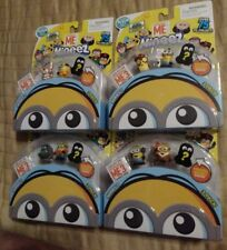 Lot of 4 Despicable Me Mineez Series 1 Minions 3 Pack New Hidden 8 different
