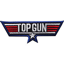 Top Gun Embroidered Iron Sew on Patch Fancy Dress Jacket T Shirt Badge Transfer