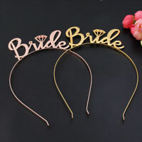 New Bride Bridesmaid Tiara Crown Headband Bachelorette Hen Party Bride To Be 1PC