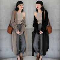Thick Baggy Cardigan Autumn Womens Long Sleeve Coat Loose Sweater Outwear Jacket