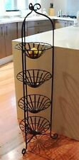 FRENCH ANTIQUE  4 tier fruit bowl basket wrought iron  .very elegant design