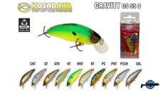 Leurre poisson nageur Gravity CS 55S KOSADAKA 55mm 5,3gr pêche perche truite