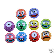 "10 FUNNY FACES Buttons Pinbacks Badges 1"" Cartoon Silly"
