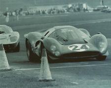 Vintage 8X10 1967 Daytona Ferrari 330 P4 & Ford GT40 MkII Auto Racing Photo