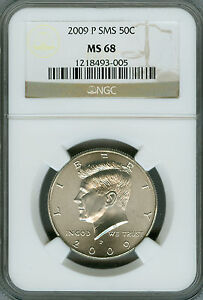 2009-P KENNEDY HALF DOLLAR NGC MS68 SMS 2ND FINEST REGISTRY LOW MINTAGE RARE*
