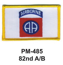 "3""  82ND A/B Embroidered Military Patch"