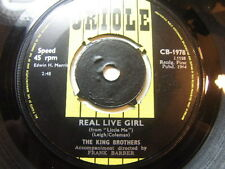 """King Brothers – Real Live Girl 1964 7"""" Oriole CB 1978"""