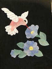 Applique  Humming Bird quilt block #1360A