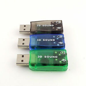 External Virtual USB 3D 5.1 Channels Stereo Sound Card Audio Adaptor Converter