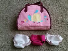 Baby Alive 3 in 1 Travelin Diaper Bag Accessory Lot - diapers toys EUC HTF