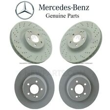 For Mercedes C216 W221 Set of 2 Front and Rear Brake Disc Rotors Kit Genuine