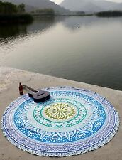 Hippie Ombre Paradise Round Beach Ethnic Indian Wall Hanging Roundie Beach Towel