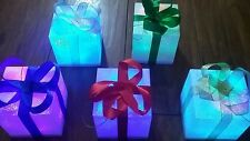 5 x LED Colour Changing Christmas/Presents/Parcels/Lights/Tree/Table/Gift Boxes