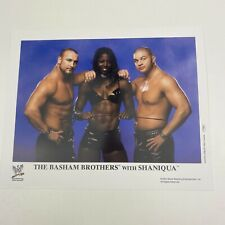 """More details for official wwe wwf promo photo the basham brothers with shaniqua (2003) 8"""" x 10"""""""