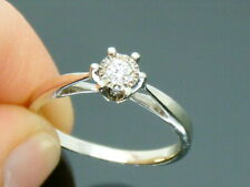 9ct Gold 0.10ct Diamond Solitaire Ring size M