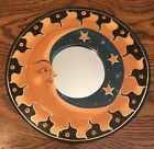 """BALI MOON & STARS MIRROR 12"""" Hand Carved & Painted NEW Antique color"""